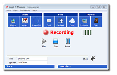 Speak-A-Message Voice Recorder